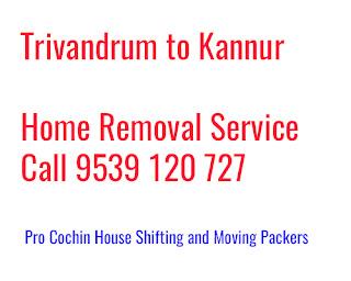 Thiruvananthapuram to Kannur Household Moving Service