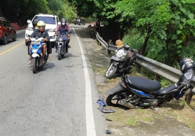Kecelakaan Antara Scoopy dan Jupiter Z di Skyland, Pengendara Patah Pergelangan Tangan.lelemuku.com.jpg