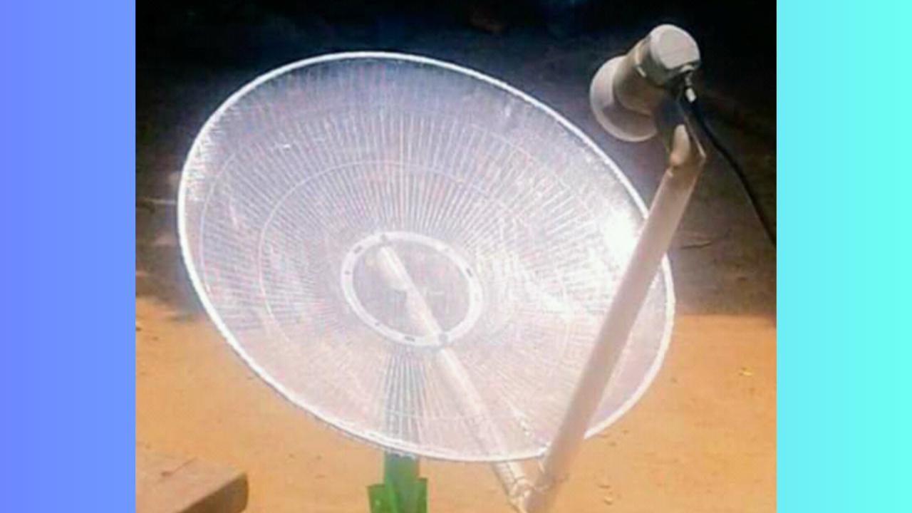 Cara Membuat Dish dari Kipas Angin Untuk Lock Ninmedia Freesat