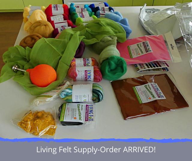 Living Felt Supply order has arrived.