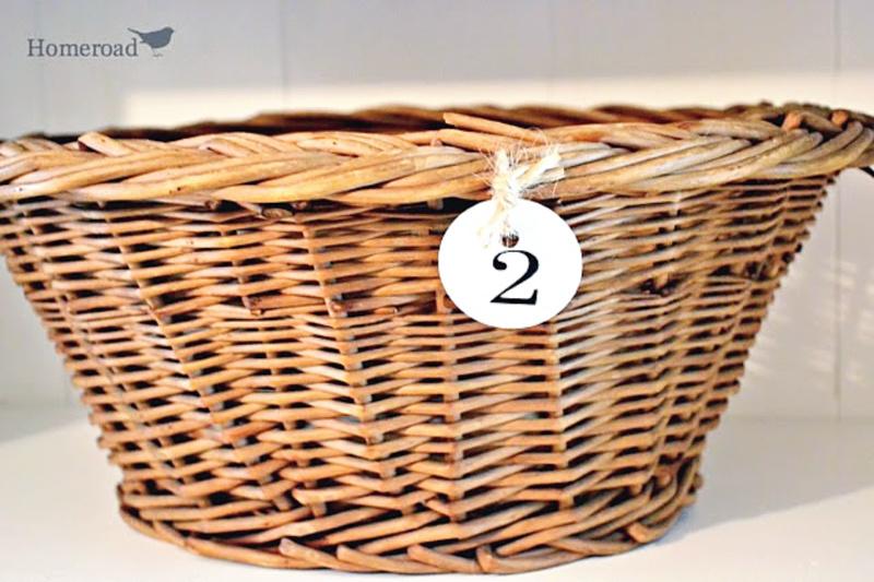 basket with hang tag