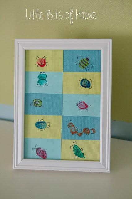 Kids Artwork Thumb Art #kids #playroom #kidspace #color #art