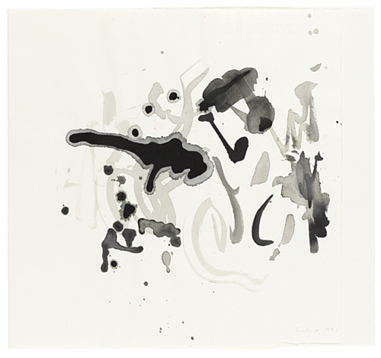 drawing Michael Krebber Untitled, 1991