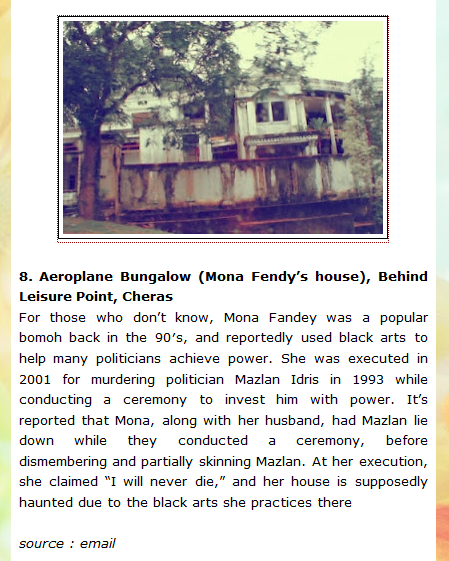 My Supernatural Journey: The New Most Haunted Places In Malaysia