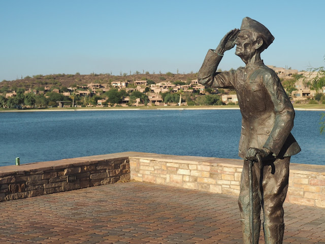 Military statue in Fountain Hills, Arizona