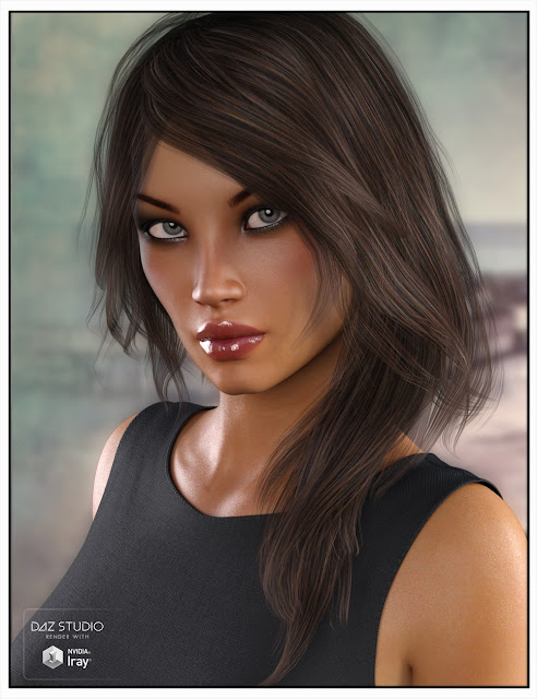Belinda Hair for Genesis 3 Female and Genesis 2 Female and Victoria 4