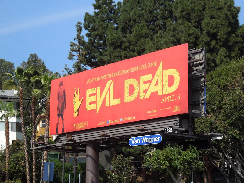 Evil Dead 2013 remake movie billboard