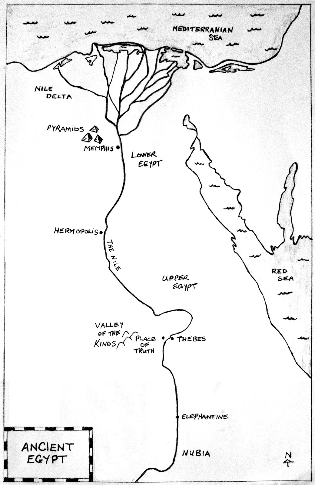 Blank Map Ancient Egypt