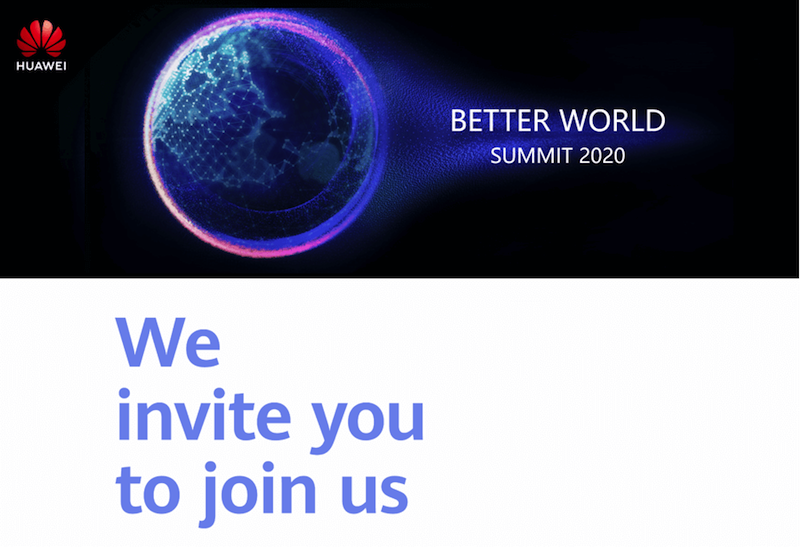 Everything you need to know about the Huawei Better World Summit 2020
