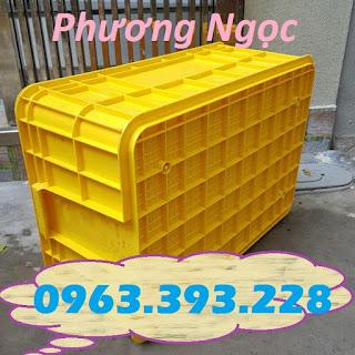 Thùng nhựa HS017, sóng nhựa bít HS017, thùng nhựa đặc có nắp,  58550e65040be255bb1a