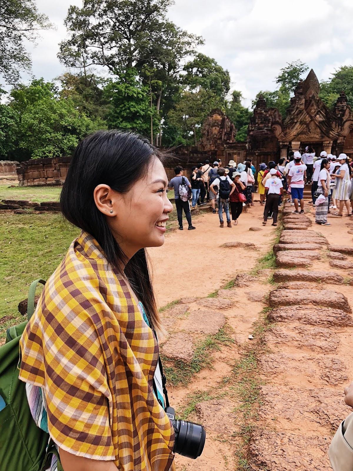 Smiling inside Banteay Srei
