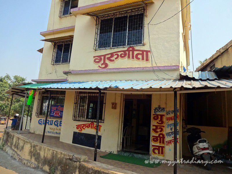 Pure veg GourGeeta restaurant at Devghar Harihareshwar