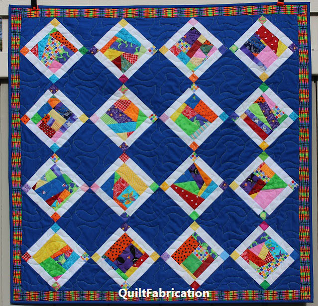 Crumble Jumble Blue baby quilt