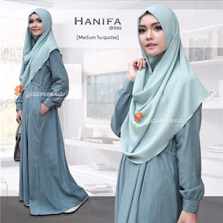 Gamis Yasmeera Hanifa Dress Medium Turquoise