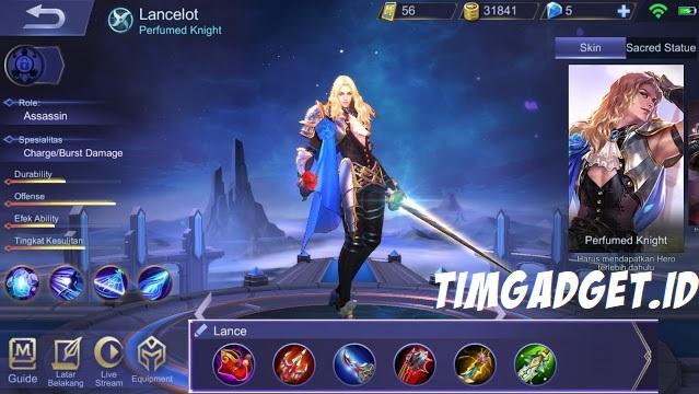 Build Hero Lancelot Mobile Legends Assassin Lincah, Damage Paling Sakit!