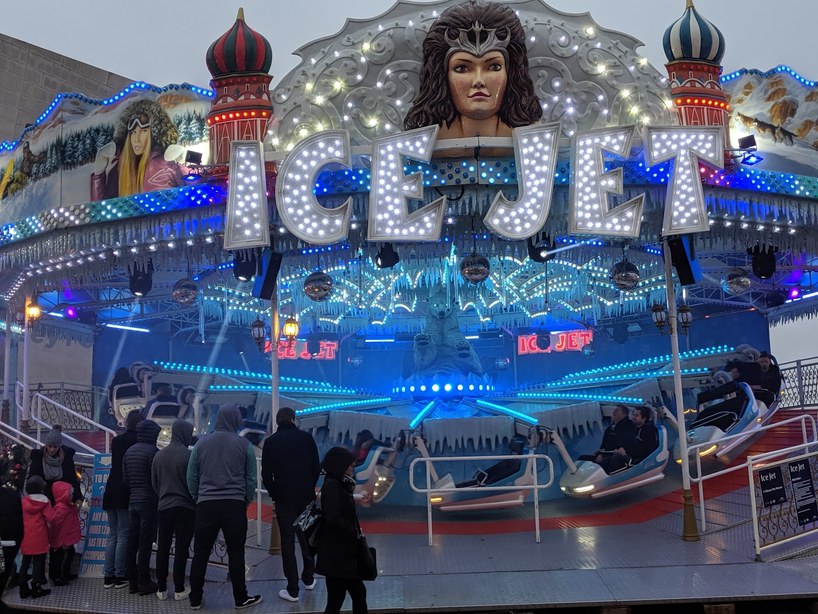 A Guide to Visiting Liverpool Christmas Markets & Lights  - Liverpool Ice Festival Ice Jet Ride