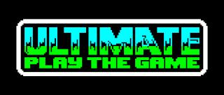 Logo de Ultimate Play de Game. Texto pixelado en azul con degradado a verde (fuente: retrocomp.si)