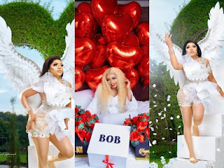 Bobrisky Rocks Angelic Outfits To Celebrate His 28th Birthday