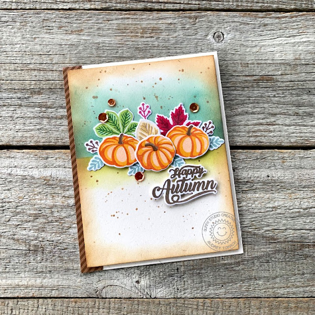 Sunny Studio Stamps: Crisp Autumn Fall Themed Card by Audrey Tokach