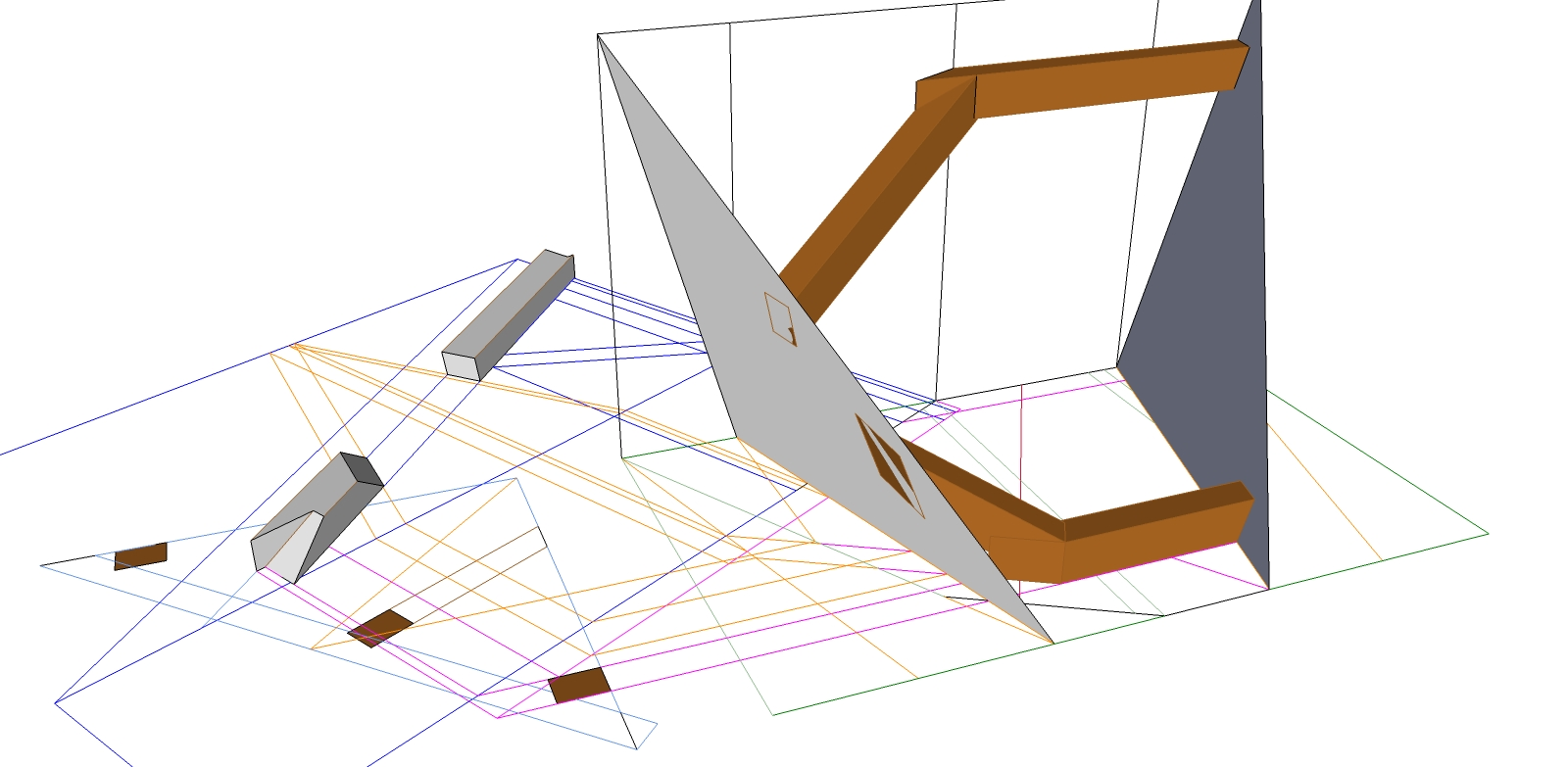 Roof Framing Geometry Pent Roof With Rising Purlin