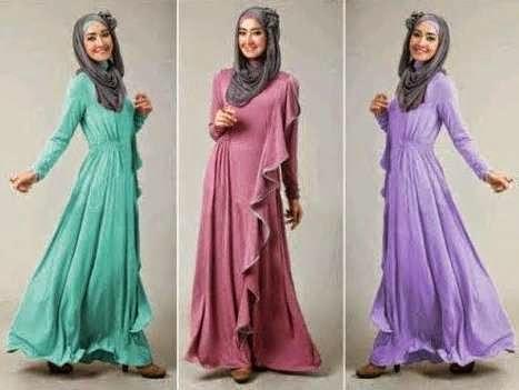 Desain baju muslim remaja minimalis modis