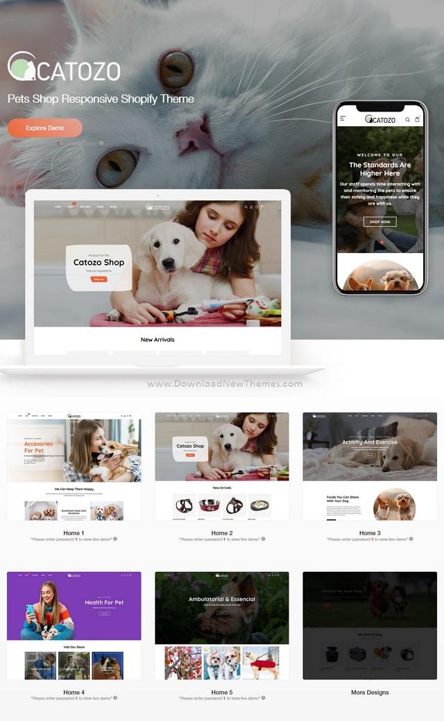 Pets Shop Responsive Shopify Theme