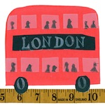 Tracey English, collage, London, double decker bus