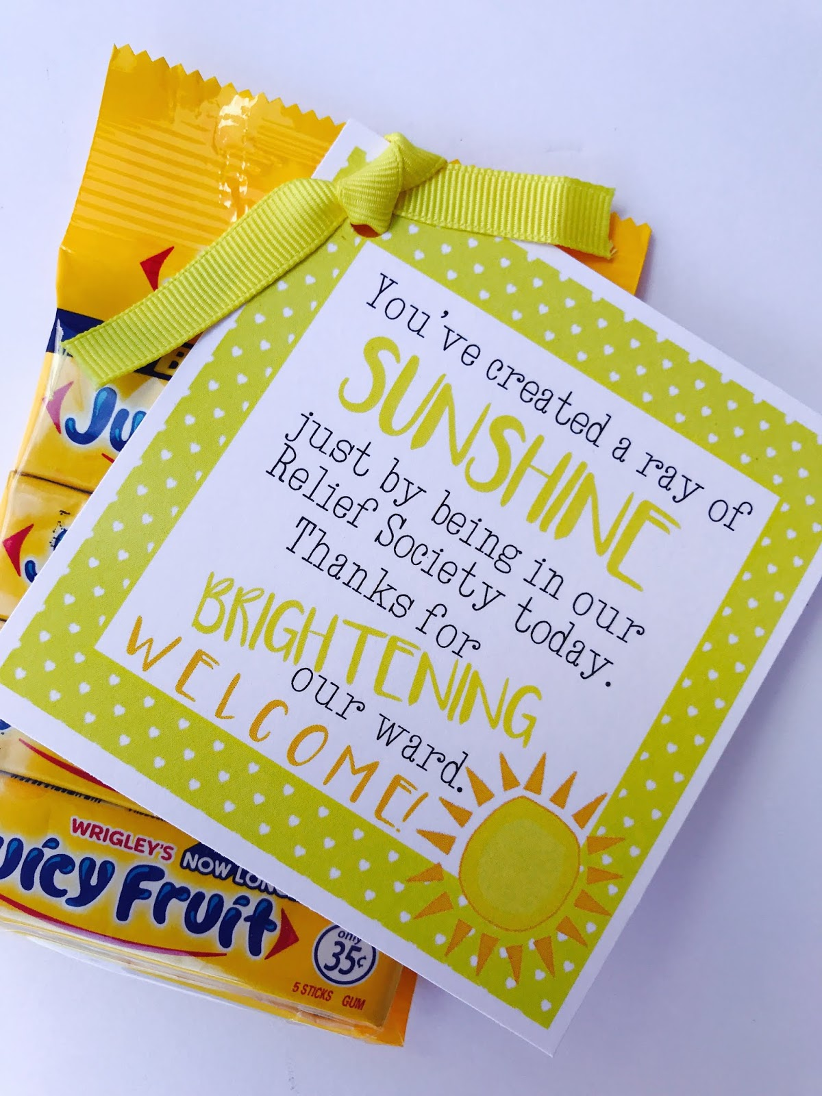 Marci Coombs Welcome Tags Tickled Pink Sunshine Printables