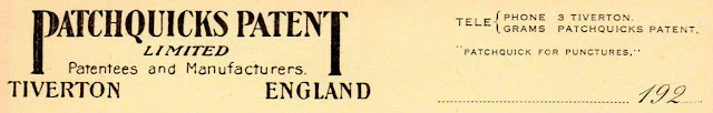 Patchquicks Letterhead - 1920s