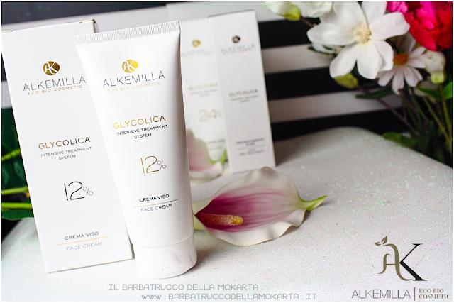 crema viso 12 consigli antiage antimacchie trattamento acido glicolico GLYCOLICA alkemilla cosmetics