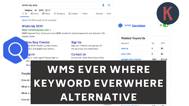 WMS Everywhere Chrome Extension Download Keyword Every Where Alternative