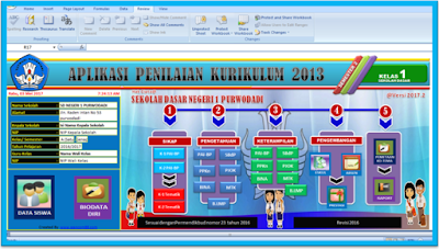 Aplikasi Raport Kurikulum 2013 revisi 2016 semester 2