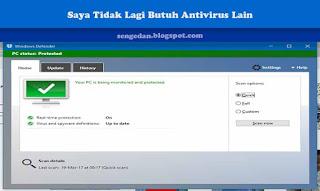 Tentang Windows Defender ; Saya Tidak Lagi Butuh Antivirus Lain
