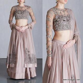 lehenga blouse designs catalogue