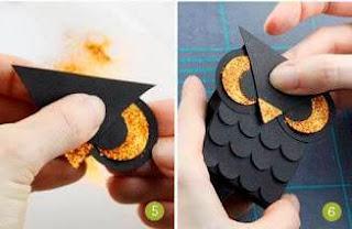 Cara Membuat Kerajinan Tangan Dari Kertas, Burung Hantu Kertas 3