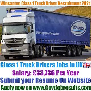 Wincanton Class 1 Truck Driver Recruitment 2021-22