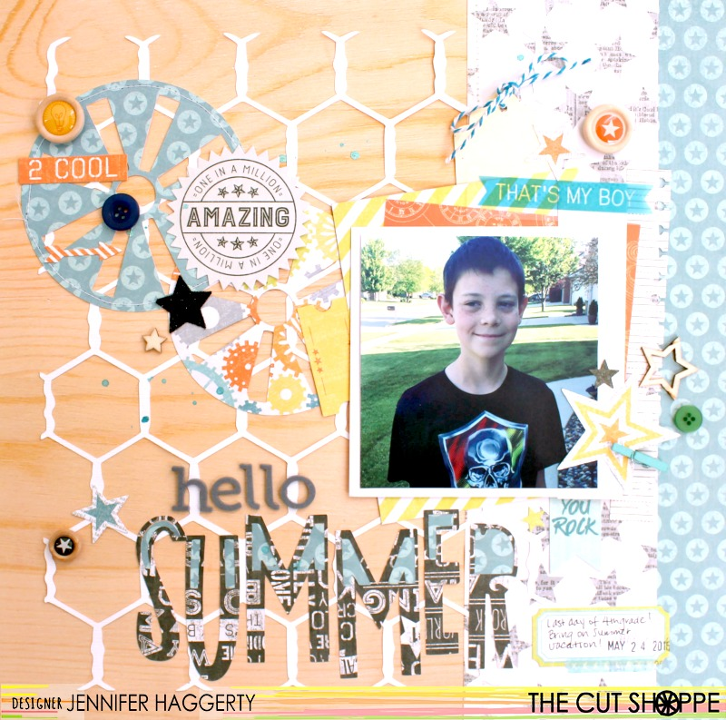Hello Summer. Happy Saturday To Everyone! Itu0027s Jennifer And Iu0027m Sharing A  Layout I Created With Some Of The New Awesome Cut Files From The Cut Shoppe!