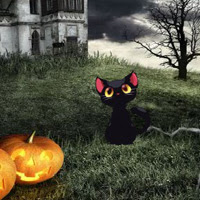 Play BigEscapeGames-Halloween Cemetery Castle Escape