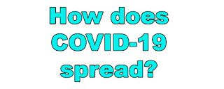 How does COVID-19 spread?
