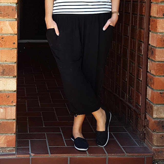 rivers loose cropped pants | Almost Posh