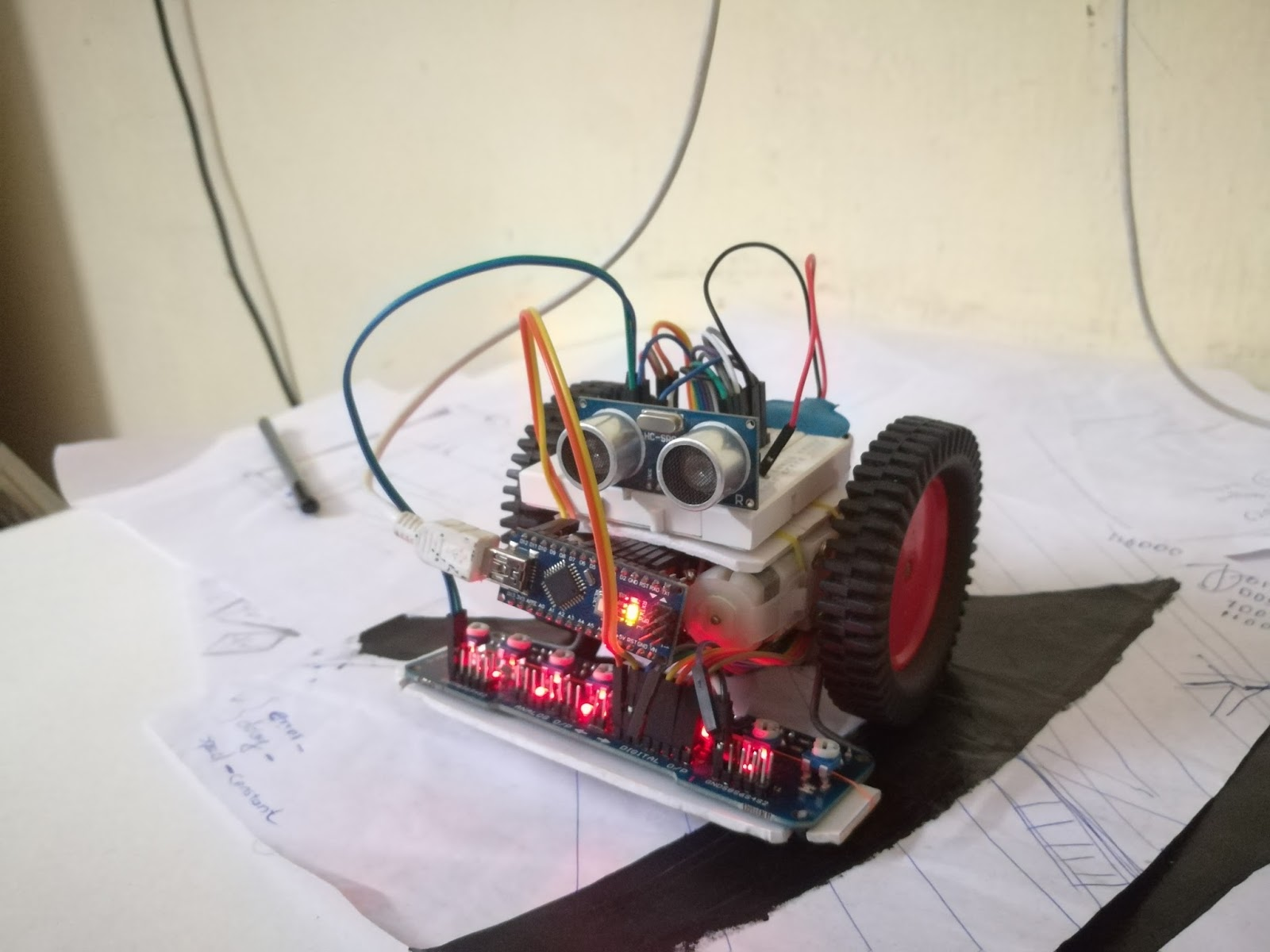 Electronic Connectors Ir Line Following Robot Using Sensor Array Without Microcontroller My After Making You Can Also Make Your Own Simply