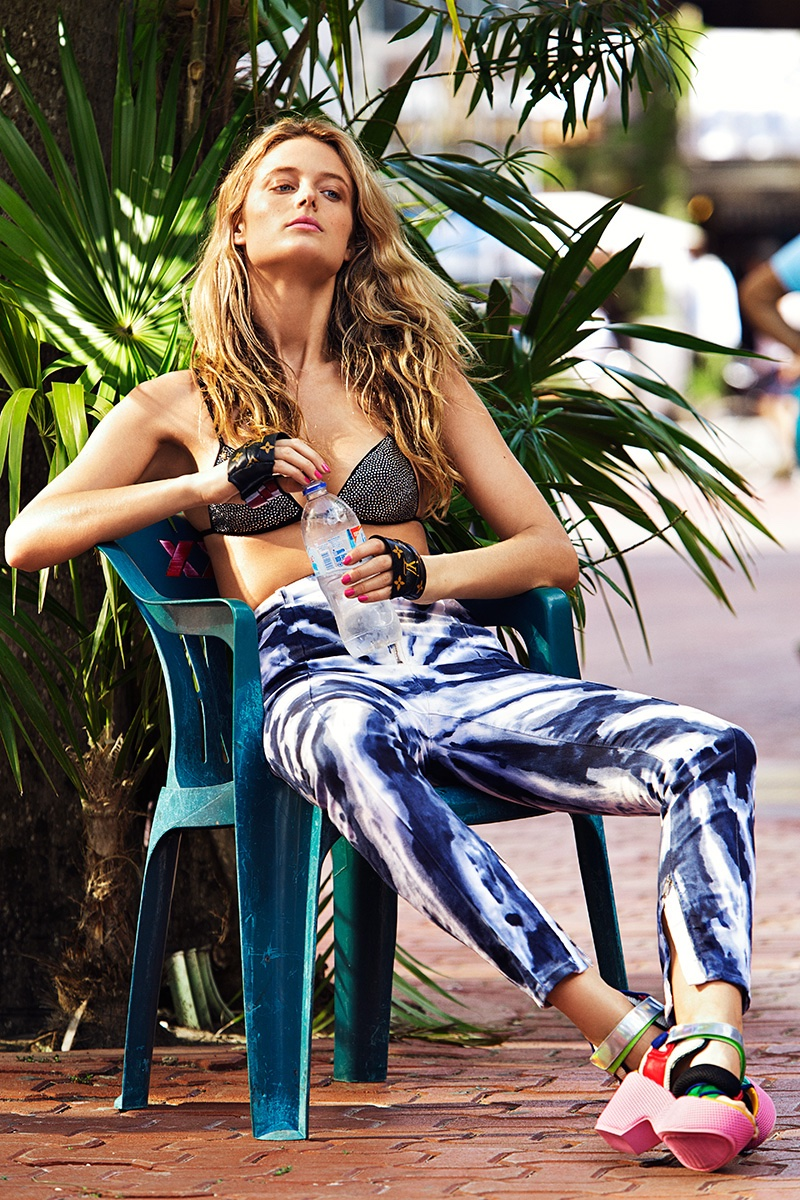 Kate Bock shows swim styles for Woman Spain June 2016