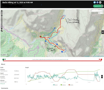 GPS hike tracks for Rifugio Scotoni.