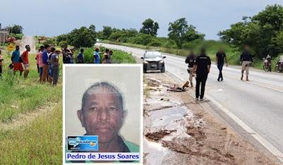 Homem de 54 anos com bicicleta morre atropelado na saída para Salvador