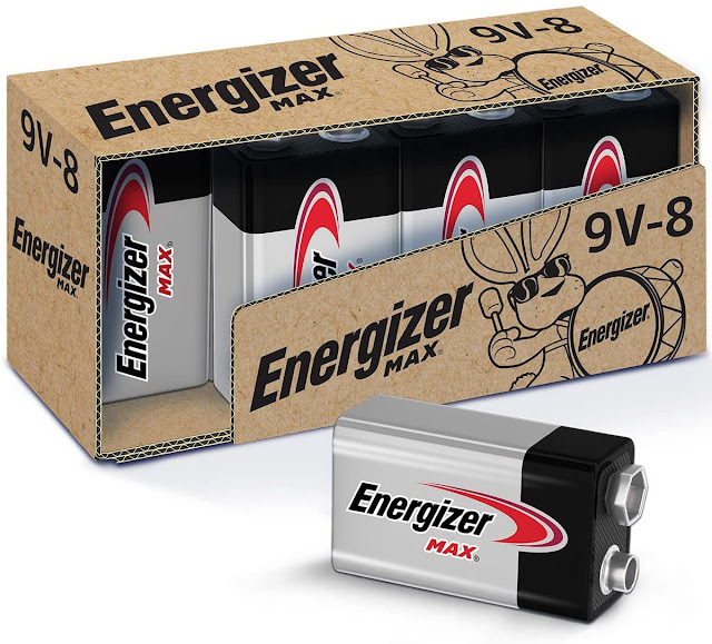 Energizer Max 9V Batteries, Premium Alkaline 9 Volt Batteries (8 Battery in one Pack)