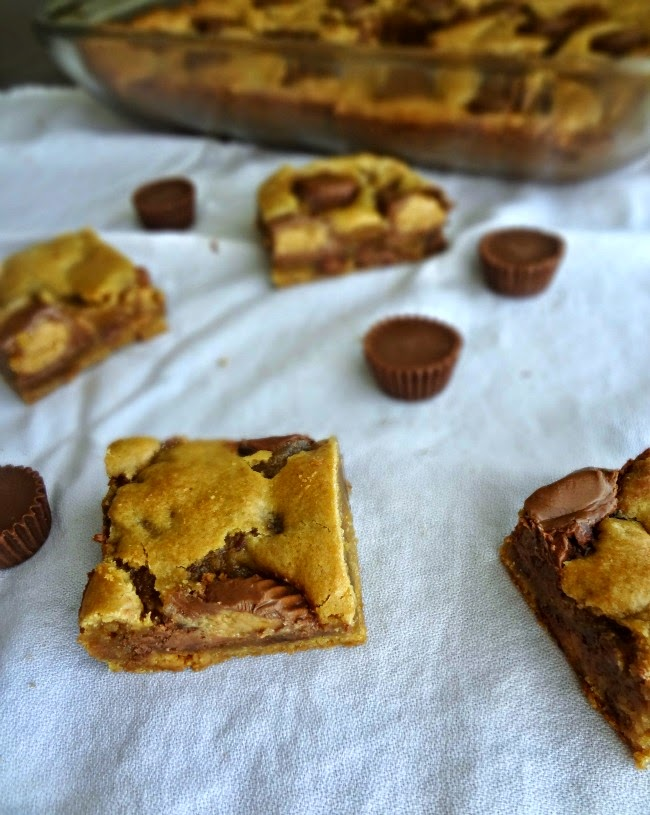 Browned Butter Peanut Butter Cup Blondies