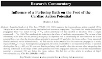 """Roth BJ, """"Influence of a Perfusing Bath on the Foot of the Cardiac Action Potential,"""" Circ. Res., 86:e19-e22, 2000."""