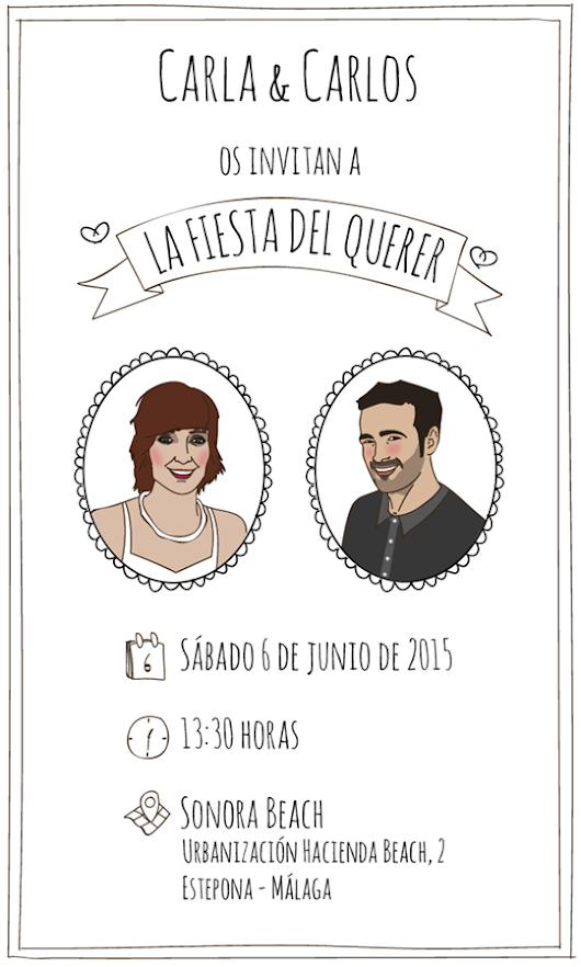 Pakortiz. Animación, diseño e ilustración: Design for a wedding 'La Fiesta del Querer' - Commission