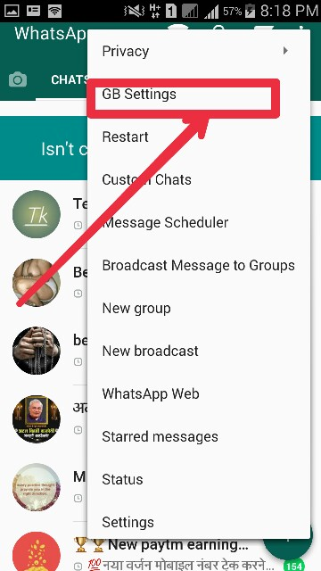 आप लोग GB WhatsApp को डाउनलोड कर लेना करने के बाद साइन अप कर ले सेम इसी WhatsApp  की तरह साइन अप होगी |  खो जाने के बाद फ्री डॉट लाइन पर जाना |