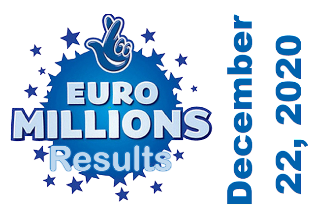 EuroMillions Results for Tuesday, December 22, 2020